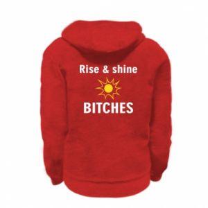 Bluza na zamek dziecięca Rise and shine bitches