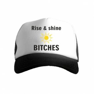 Czapka trucker dziecięca Rise and shine bitches