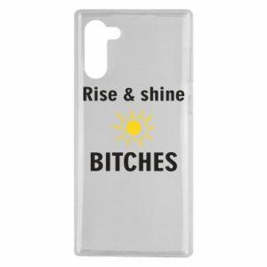 Etui na Samsung Note 10 Rise and shine bitches