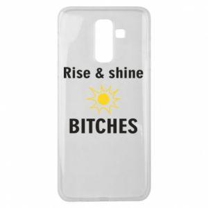 Etui na Samsung J8 2018 Rise and shine bitches