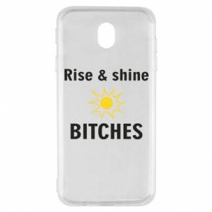 Etui na Samsung J7 2017 Rise and shine bitches