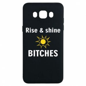 Etui na Samsung J7 2016 Rise and shine bitches