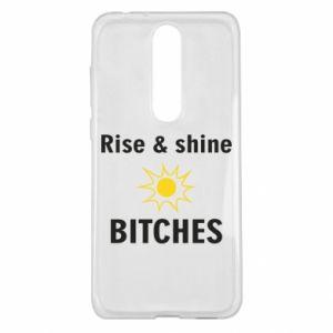 Etui na Nokia 5.1 Plus Rise and shine bitches