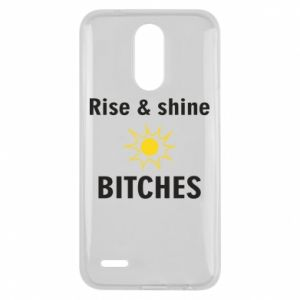 Etui na Lg K10 2017 Rise and shine bitches