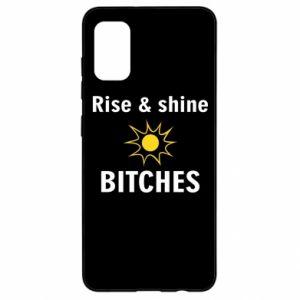 Etui na Samsung A41 Rise and shine bitches