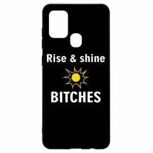 Etui na Samsung A21s Rise and shine bitches
