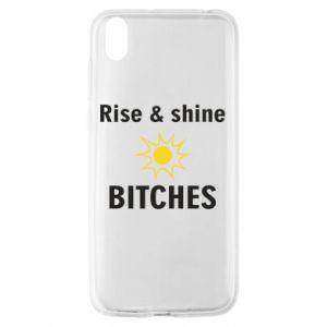 Etui na Huawei Y5 2019 Rise and shine bitches