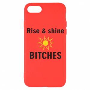 Etui na iPhone SE 2020 Rise and shine bitches