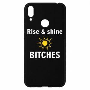 Etui na Huawei Y7 2019 Rise and shine bitches