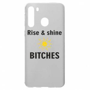 Etui na Samsung A21 Rise and shine bitches
