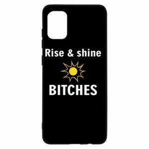 Etui na Samsung A31 Rise and shine bitches