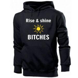 Męska bluza z kapturem Rise and shine bitches