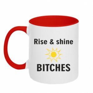 Kubek dwukolorowy Rise and shine bitches