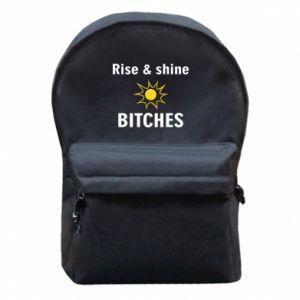 Plecak z przednią kieszenią Rise and shine bitches
