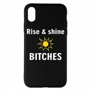 Etui na iPhone X/Xs Rise and shine bitches