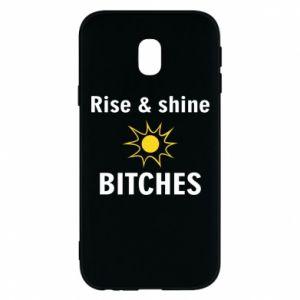 Etui na Samsung J3 2017 Rise and shine bitches