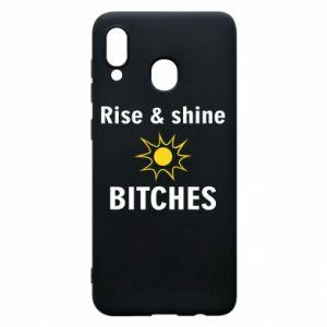 Etui na Samsung A20 Rise and shine bitches