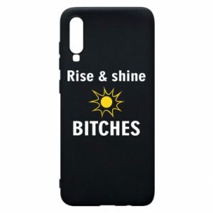 Etui na Samsung A70 Rise and shine bitches