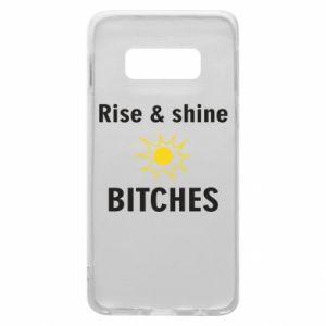 Etui na Samsung S10e Rise and shine bitches