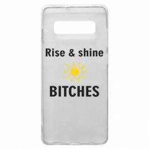 Etui na Samsung S10+ Rise and shine bitches