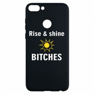 Etui na Huawei P Smart Rise and shine bitches