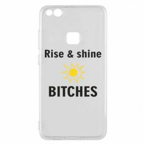 Etui na Huawei P10 Lite Rise and shine bitches