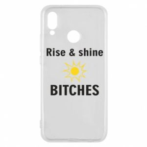 Etui na Huawei P20 Lite Rise and shine bitches