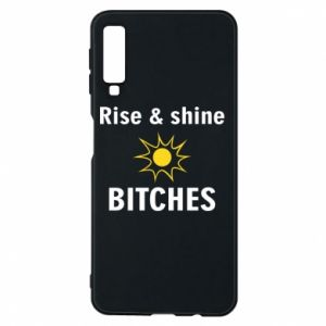 Etui na Samsung A7 2018 Rise and shine bitches