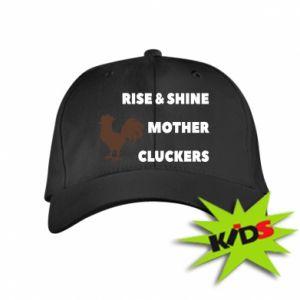 Dziecięca czapeczka z daszkiem Rise and shine mother cluckers