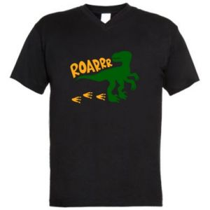 Men's V-neck t-shirt Roarrr - PrintSalon