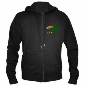 Men's zip up hoodie Roarrr - PrintSalon