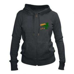 Women's zip up hoodies Roarrr - PrintSalon