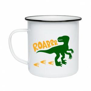 Enameled mug Roarrr - PrintSalon
