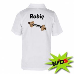 Dziecięca koszulka polo Robię masę