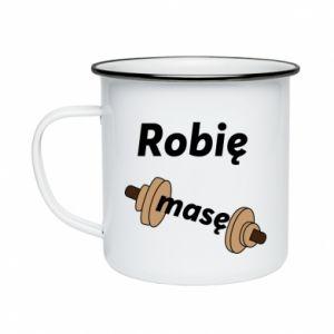 Enameled mug I'm doing mass - PrintSalon