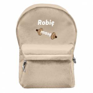 Plecak z przednią kieszenią Robię masę