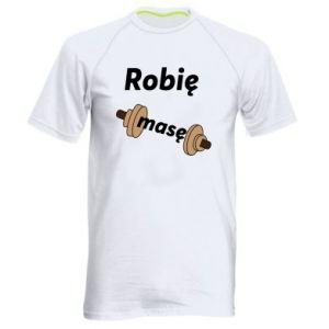 Męska koszulka sportowa Robię masę