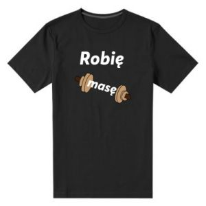 Męska premium koszulka Robię masę
