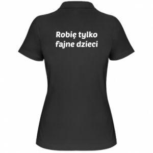 Women's Polo shirt I make only cool kids - PrintSalon