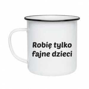 Enameled mug I make only cool kids - PrintSalon