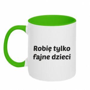 Two-toned mug I make only cool kids - PrintSalon