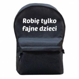 Backpack with front pocket I make only cool kids - PrintSalon