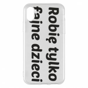 Phone case for iPhone X/Xs I make only cool kids - PrintSalon