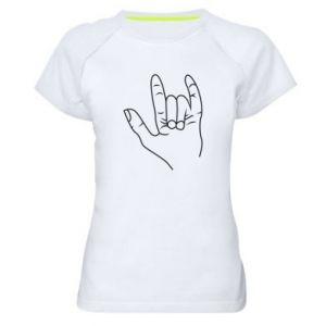 Damska koszulka sportowa Rock greeting