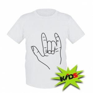Dziecięcy T-shirt Rock greeting