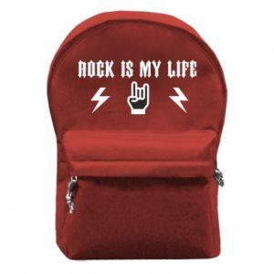 Plecak z przednią kieszenią Rock is my life