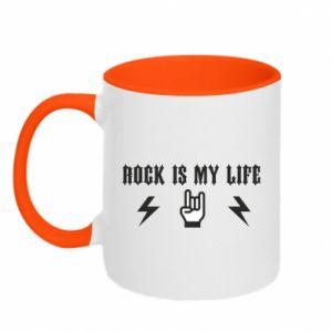 Two-toned mug Rock is my life