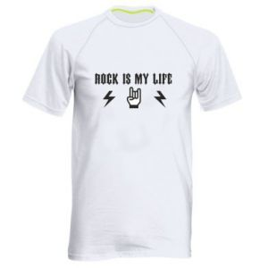 Men's sports t-shirt Rock is my life