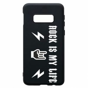 Phone case for Samsung S10e Rock is my life