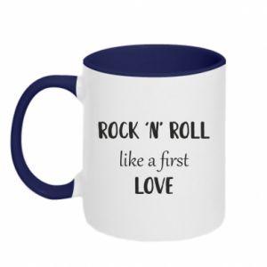 Kubek dwukolorowy Rock 'n' roll like a first love